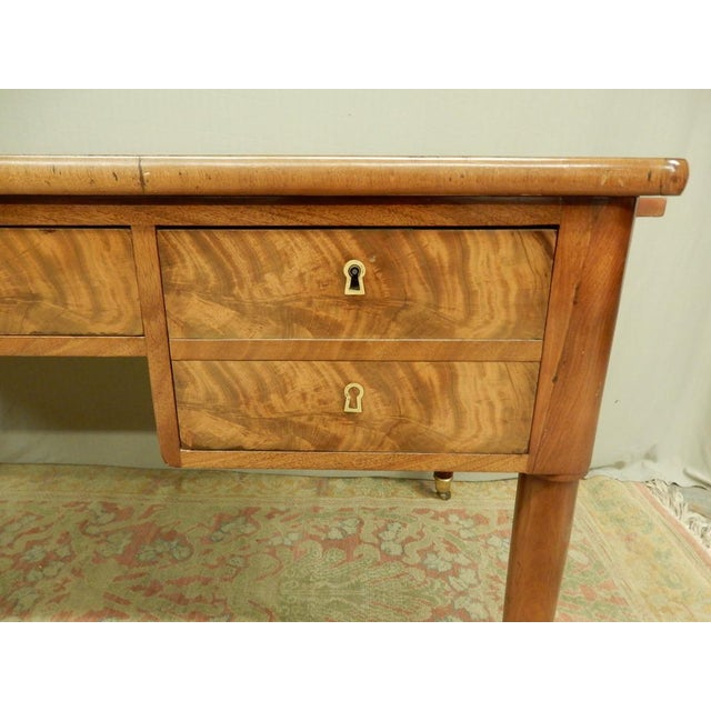 Elegant Louis XVI 19th Century Walnut Desk For Sale In New Orleans - Image 6 of 11