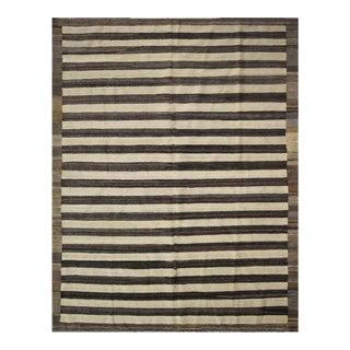"Striped Afghan Kilim Rug - 6' x 8'1"" For Sale"