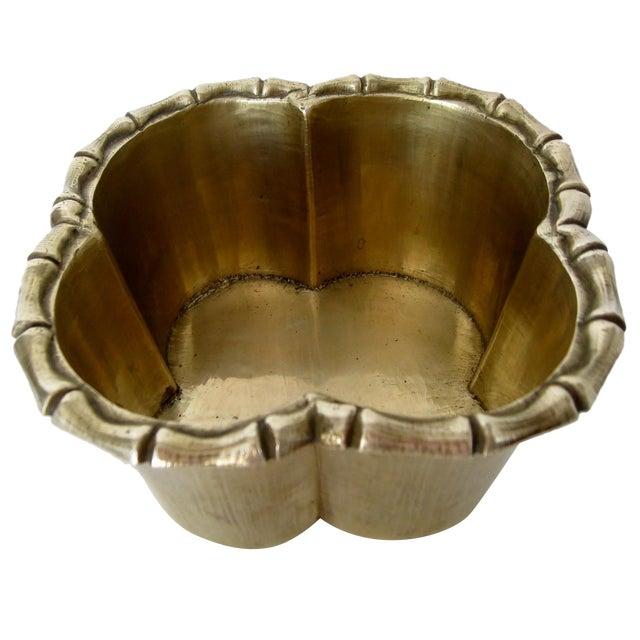 Handmade Brass Clover Console Bowl - Image 1 of 8