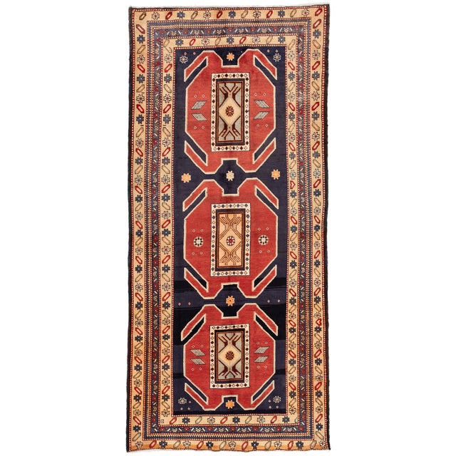 "Textile Apadana - Vintage n.w. Persian Runner Rug, 4'6"" X 10'2"" For Sale - Image 7 of 7"