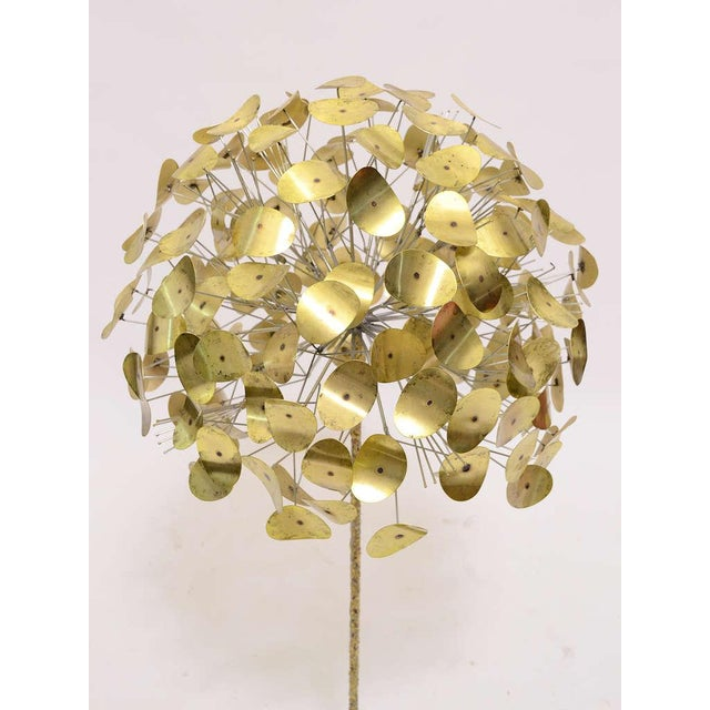 1970s Oversize Dandelion Sculpture In Brass By Jere For Sale - Image 5 of 9