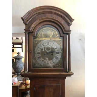 Antique Mahogany Brass Face Grandfather Clock Preview