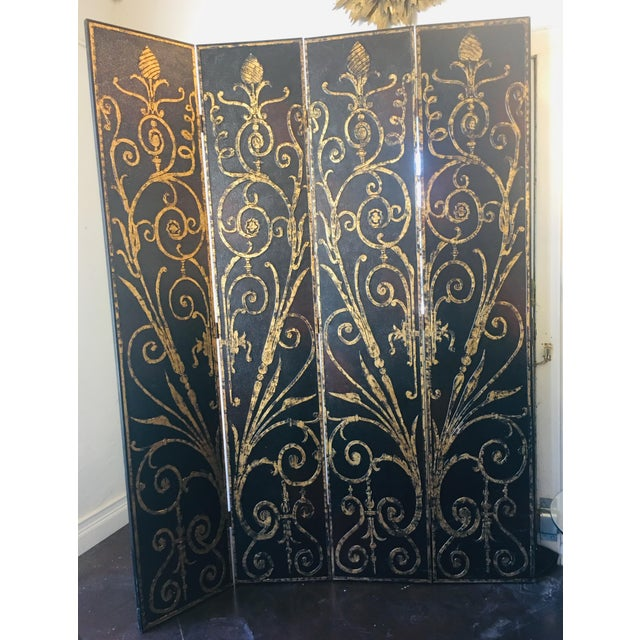 French Style 4 Panel Room Divider/Screen For Sale - Image 11 of 11