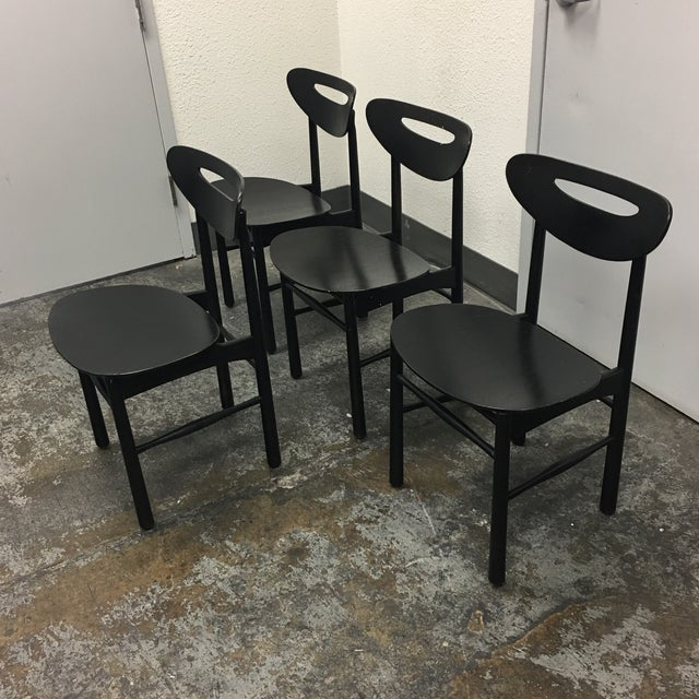 Mid-Century Style Black Dining Chairs - Set of 4 - Image 3 of 7