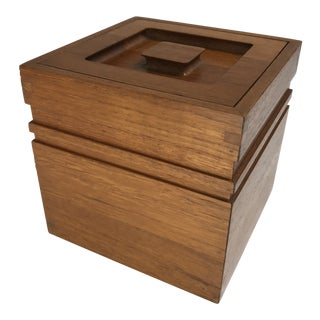Danish Modern Teak Ice Bucket For Sale