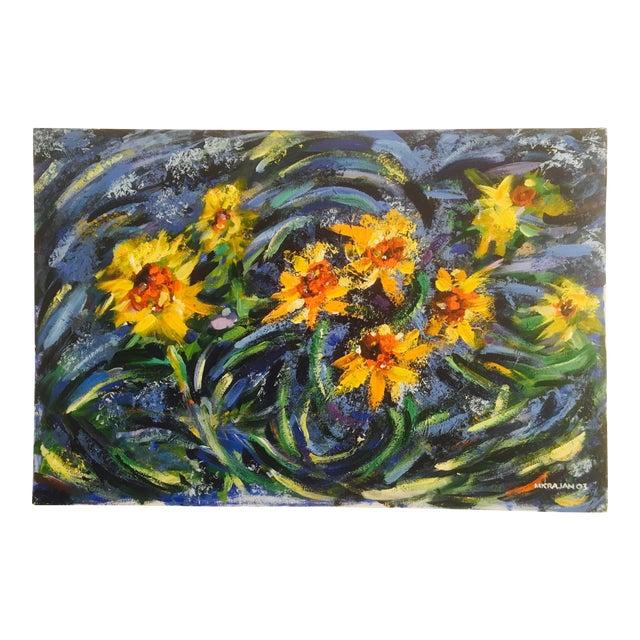 Original Impasto Floral Painting - Image 1 of 6