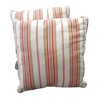 Classic Striped Pillows- A Pair For Sale