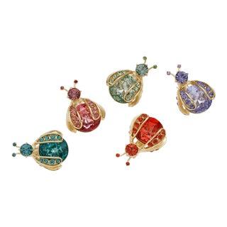Mini Bug Clip Set, Rainbow - Set of 5 For Sale