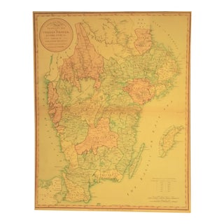 1805 Traveling Map of Sweden For Sale
