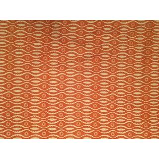 Raoul Textiles Knit Backed Domonic Fabric Orange Designer Fabric - 4 Yards
