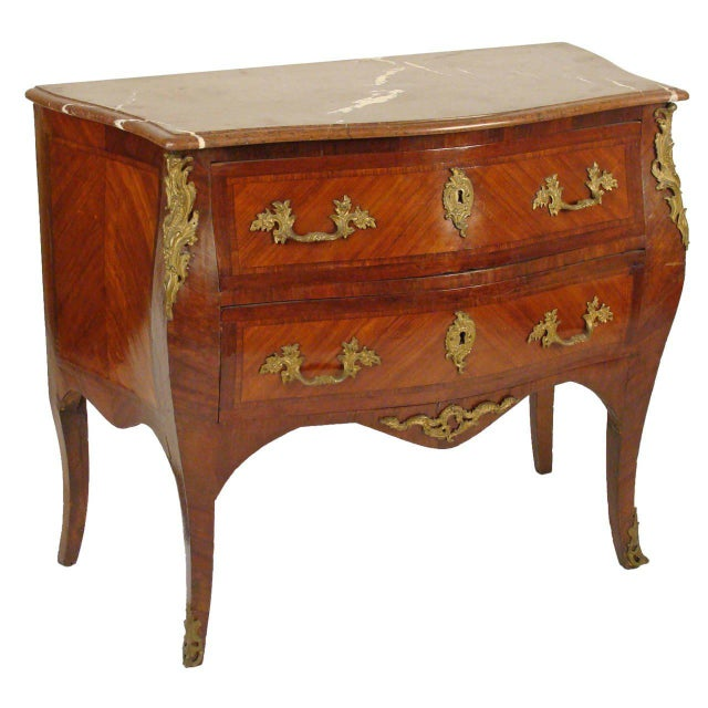 Late 19th Century Louis XV Style Bombe Commode For Sale - Image 11 of 11