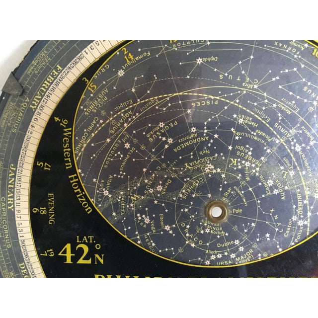 Cardboard 1959 Antique Philips Company Planisphere For Sale - Image 7 of 7