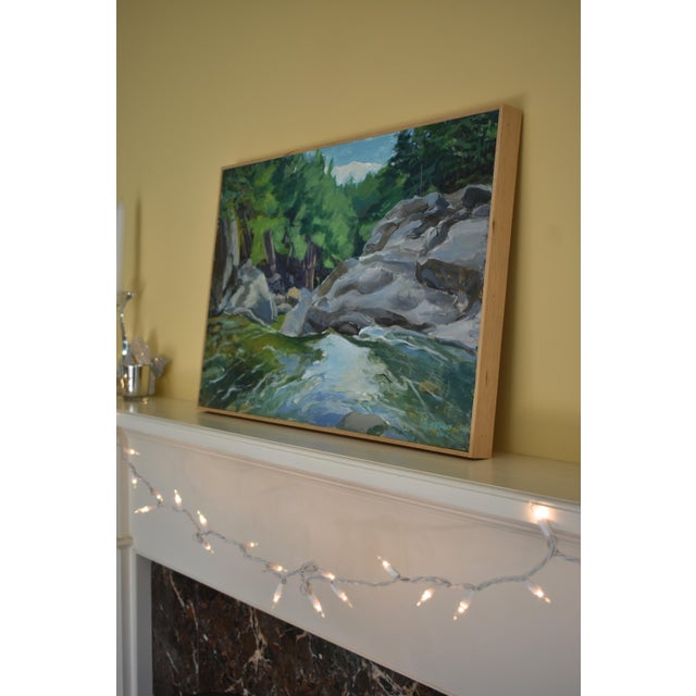 """2010s Contemporary Plein Air Painting, """"Above the Falls"""", by Stephen Remick For Sale - Image 5 of 6"""