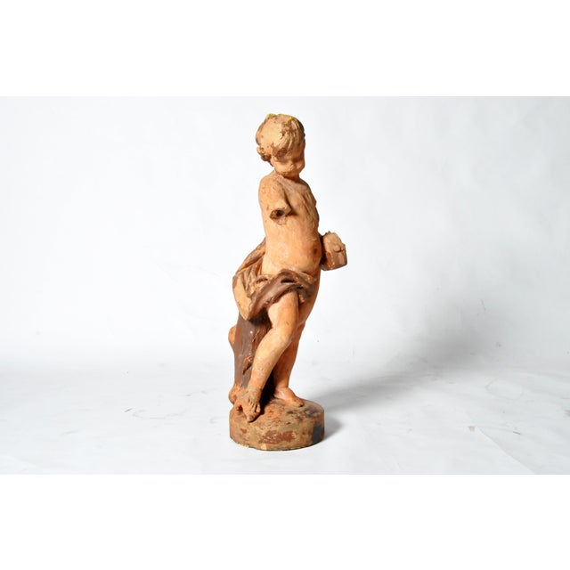 Figurative French Terracotta Figure of a Boy For Sale - Image 3 of 11