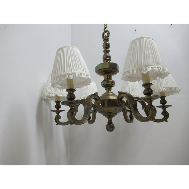 1974 Vintage Chapman Brass French Monumental Chandeliers - a Pair For Sale - Image 13 of 13