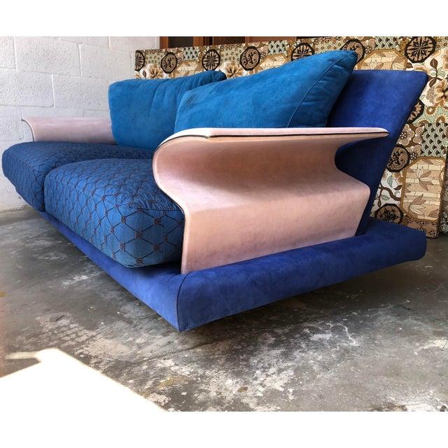 Postmodern Post Modern Giorgio Saporiti Memphis Style Sofa For Sale - Image 3 of 13