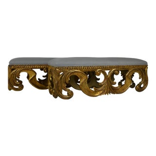 Pair of Oversize Gilded Bench For Sale
