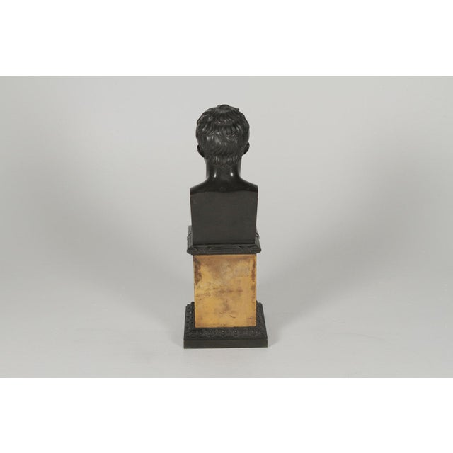 1900's Traditional Bronze Bust on a Marble Base For Sale In Philadelphia - Image 6 of 10