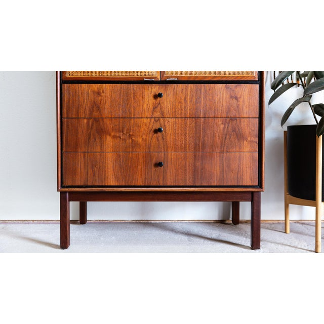 1960s Mid Century Modern Jack Cartwright for Founders Walnut Armoire Dressers - a Pair For Sale In Las Vegas - Image 6 of 10
