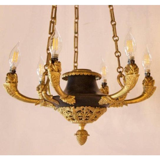 French Early 19th Century Antique French Empire Chandelier For Sale - Image  3 of 7 - Early 19th Century Antique French Empire Chandelier Chairish
