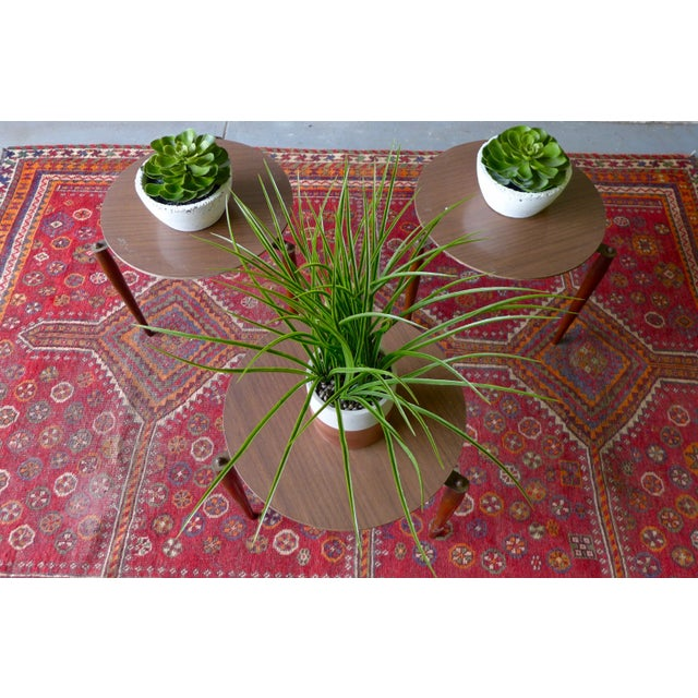 Mid Century Modern Stackable Plant Stands, Set/3 For Sale In New York - Image 6 of 8