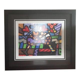 """Romero Britto """"Celebrating"""" Giclee Print For Sale"""