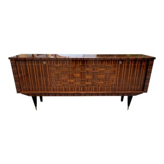 1940s Art Deco Exotic Macassar Ebony Sideboard/Credenza For Sale