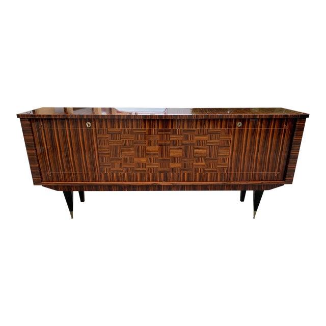 1940s Art Deco Exotic Macassar Ebony Sideboard/Credenza For Sale