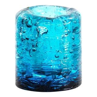 Jungle Contemporary Vase, Small Version in Monochrome Blue resin by Jacopo Foggini For Sale