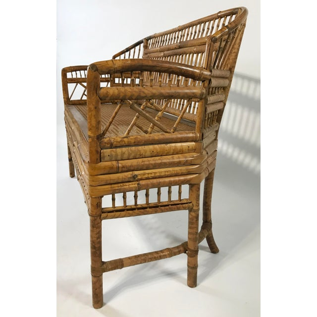 Wood Brighton Pavillion Caned Settee For Sale - Image 7 of 11