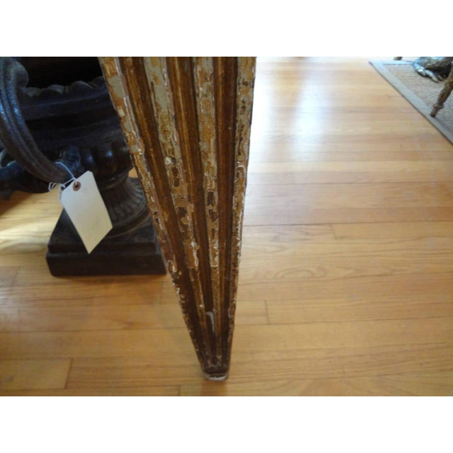 17th Century 17th Century Italian Gilt Wood With Marble Top Console Table For Sale - Image 5 of 10
