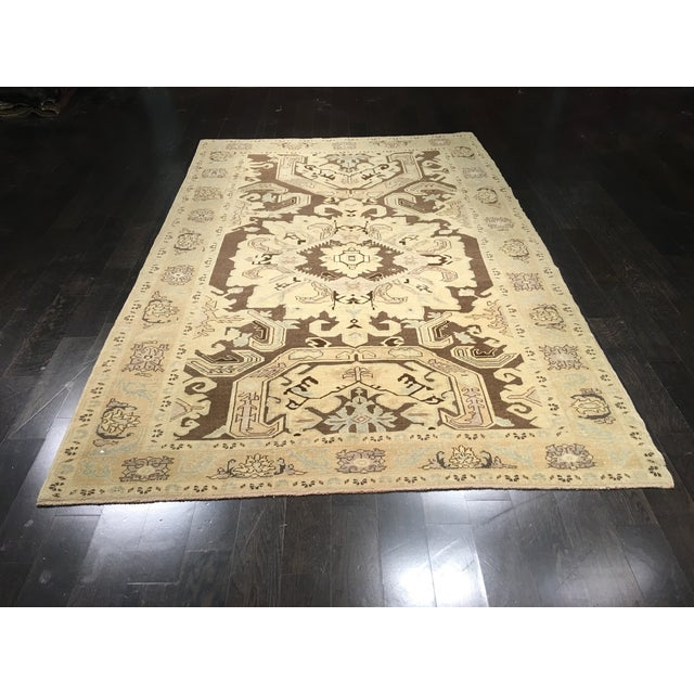 "Vintage Turkish Oushak Rug - 6' X 9'5"" - Image 2 of 8"