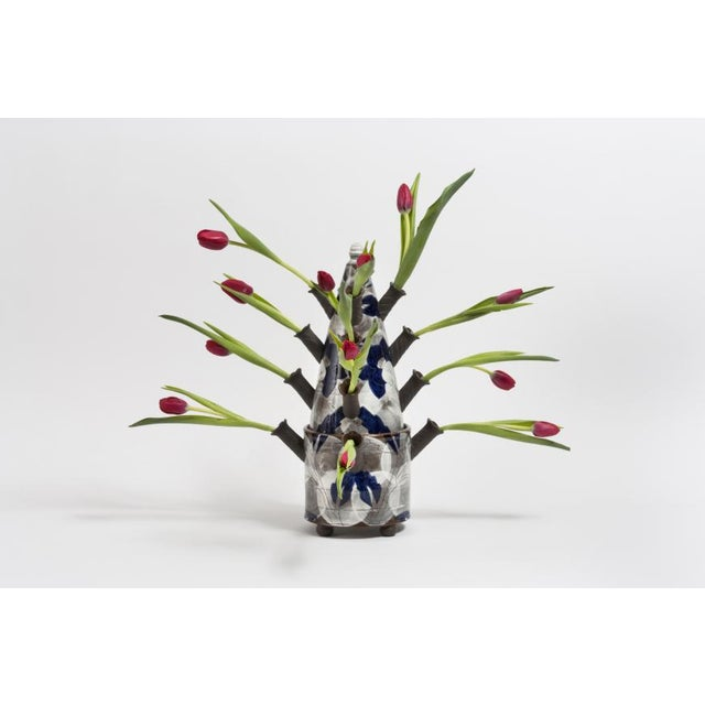 Contemporary Sanam Emami (Iranian - American) Tulip Vase With Imagined Flowers, 2016 For Sale - Image 3 of 3