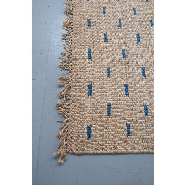 Traditional Jute Rug- 5′3″ × 7′6″ For Sale - Image 3 of 4