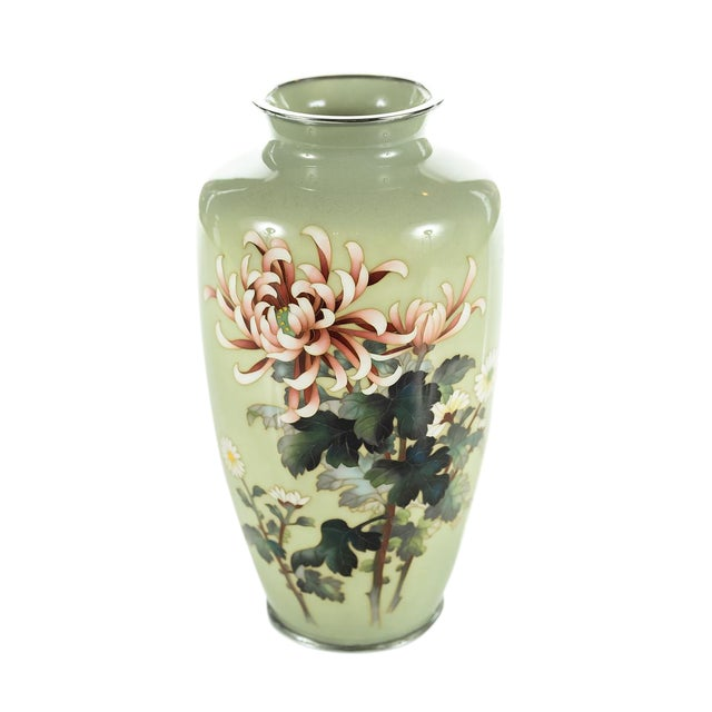 Vintage Japanese Cloisonné Ando Vase For Sale