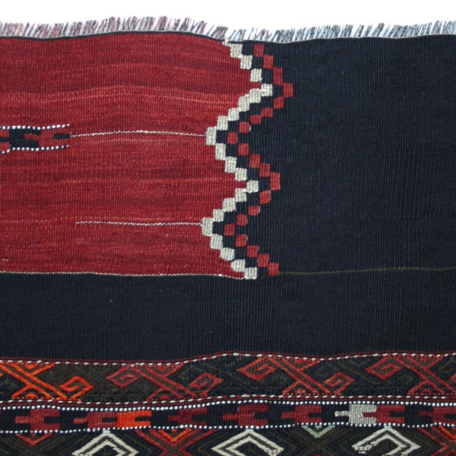 "Vintage Turkish Sofreh Kilim Flatweave Rug - 2'10"" x 3'4"" - Image 2 of 2"