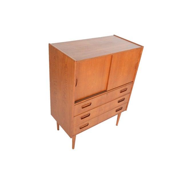 Tibergaard Danish Modern Teak Bureau Dresser For Sale - Image 4 of 10