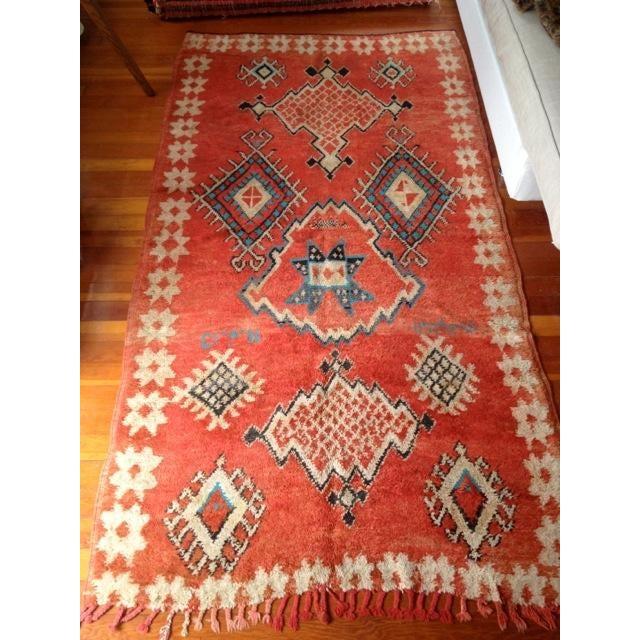 Vintage Vibrant-Color Moroccan Rug - 4′6″ × 8′8″ - Image 3 of 4