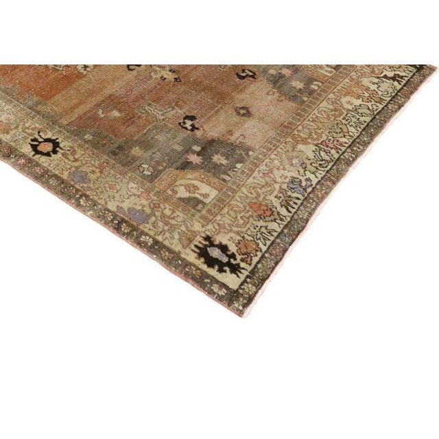 Vintage Turkish Sivas Rug with Modern Industrial Style For Sale In Dallas - Image 6 of 9