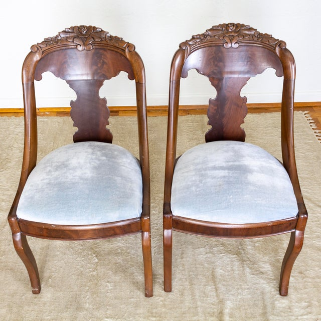 French Empire Gondola Chairs | 19th Century Francois Seignouret | a Pair For Sale - Image 10 of 13