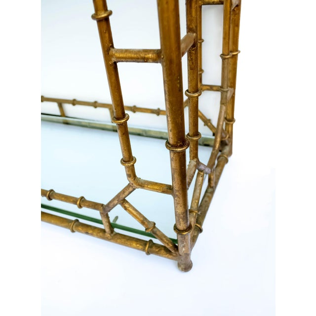 Faux Bamboo Hollywood Regency Étagère - Image 8 of 8