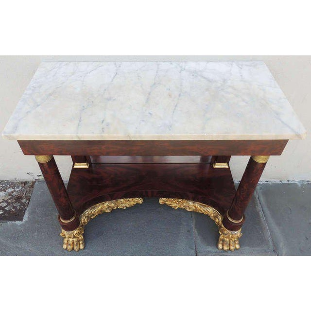 Marble 19th C New York Marble-Topped Pier Table For Sale - Image 7 of 9
