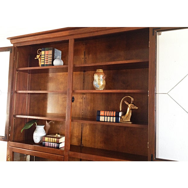 Vintage 1960s Custom Enclosed Bookcase - Image 4 of 6