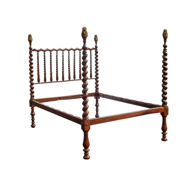 19th Century Barley Twist Full Bed For Sale - Image 4 of 7