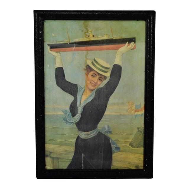 Victorian Jan Van Beers Framed Print For Sale