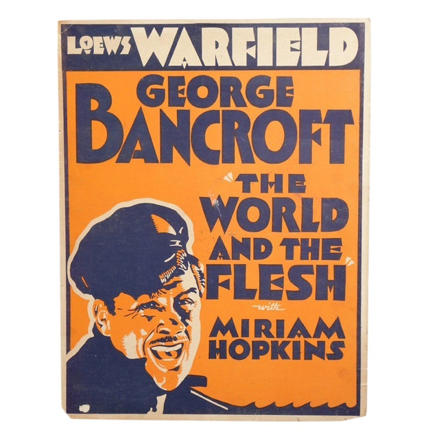 1932 World and the Flesh Movie Poster For Sale