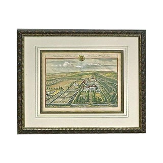 Antique Aerial Engraving of Hatherop For Sale