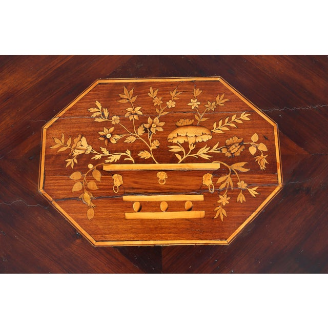 Italian Neoclassic Marquetry Inlaid Commode For Sale - Image 4 of 13