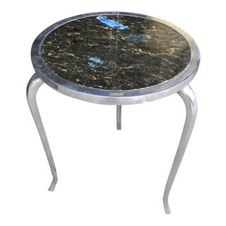 Mid Century Modern Style Table With Labradorite Top For Sale