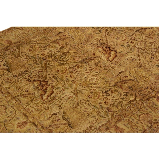 Pak Persian Griselda Tan/Gold Hand-Knotted Rug -4'2 X 6'2 For Sale In New York - Image 6 of 9